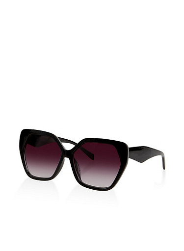 Large Geometric Sunglasses | 1134004260527,BLACK,large