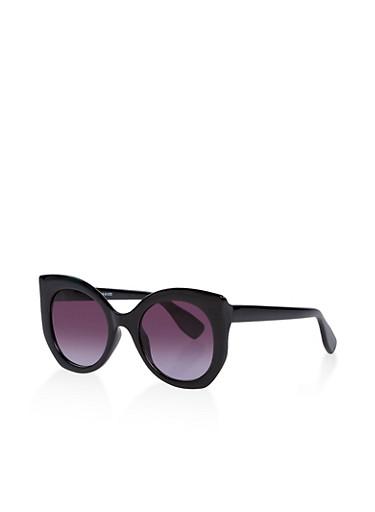 Plastic Cat Eye Sunglasses | 1134004260540,BLACK,large