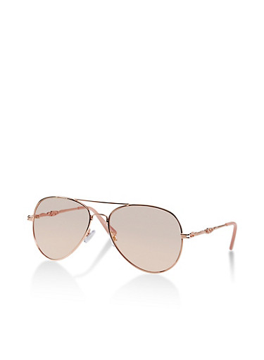 Laser Cut Metallic Arm Sunglasses,PINK,large