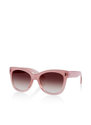 Glitter Cat Eye Sunglasses | 1134004265002,PINK,large