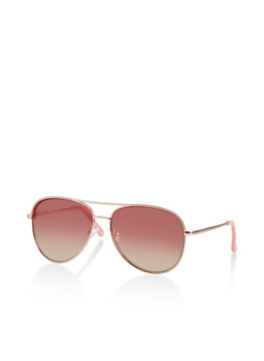 Painted Top Bar Sunglasses,PINK,large