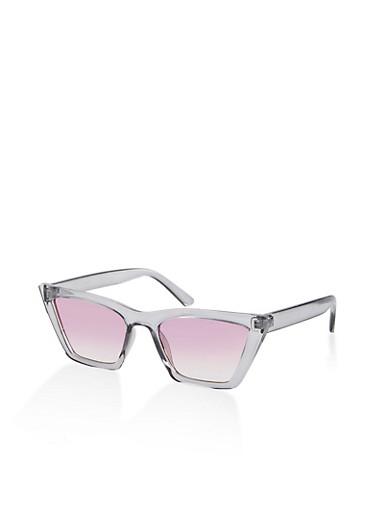 Square Frame Sunglasses,GRAY,large