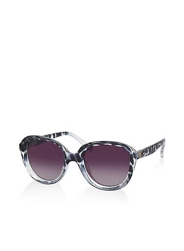 Plastic Frame Sunglasses,GRAY,large