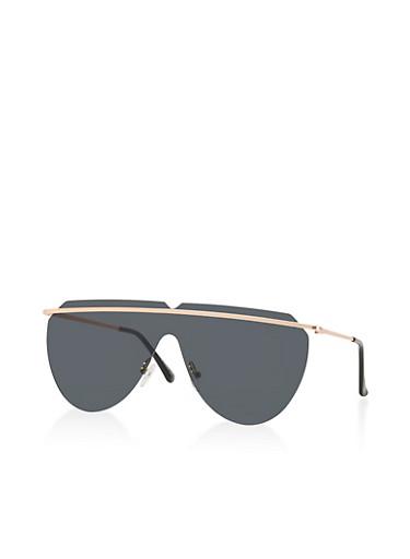 Top Bar Shield Sunglasses,GRAY,large