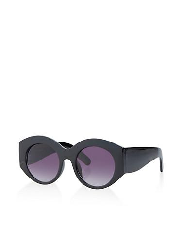 Plastic Thick Sunglasses,BLACK,large