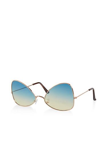 Angular Gradient Sunglasses,GREEN,large
