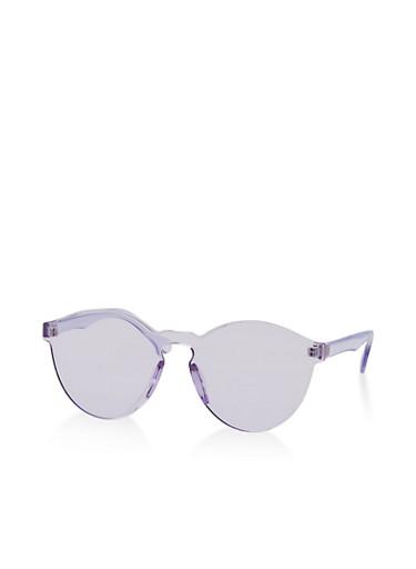 Rimless Colored Sunglasses,PURPLE,large