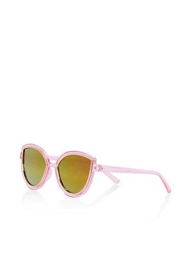 Mirrored Metallic Cat Eye Sunglasses   Tuggl