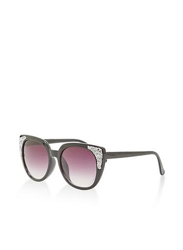 Rhinestone Encrusted Cat Eye Sunglasses   Tuggl