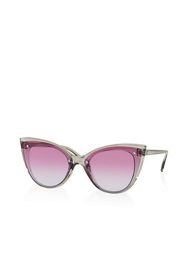 Colored Cat Eye Sunglasses | 1134073211000,GRAY,large