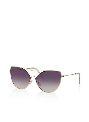 Top Bar Cat Eye Sunglasses   1134073212500,GRAY,large