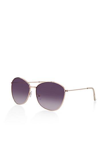 Round Large Aviator Sunglasses,GRAY,large
