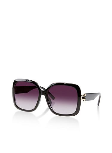 Large Square Plastic Sunglasses | 1134073216477,BLACK,large