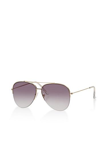 Top Bar Aviator Sunglasses,GRAY,large
