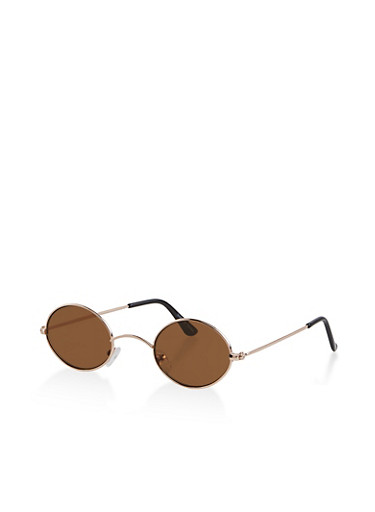 Small Colored Sunglasses,BROWN,large