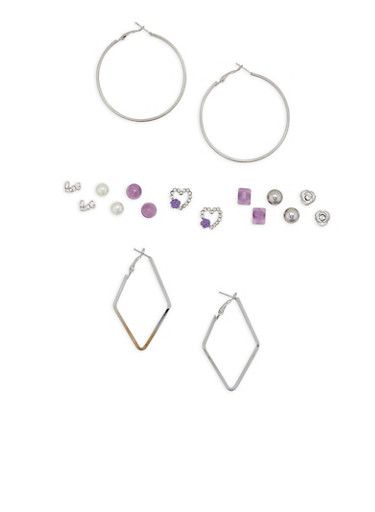 Set of 9 Assorted Earrings | Tuggl