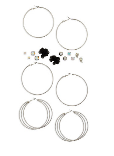 Assorted Stud and Hoop Earrings Set | Tuggl