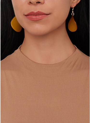 Colored Teardrop Earring Trio,PINK,large