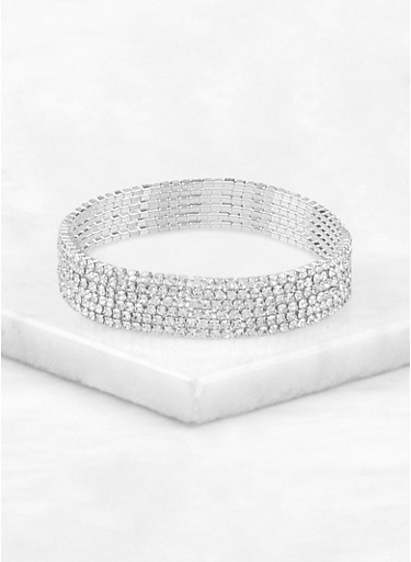 Rhinestone Stretch Bracelets | 1138018438582,SILVER,large