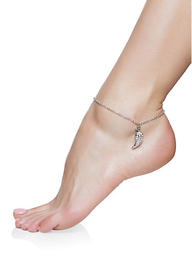 Hot Tamale Anklet Trio,SILVER,large