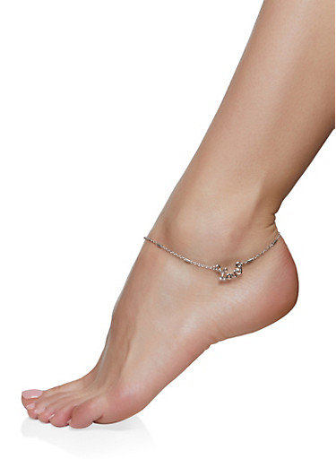 True Love Anklet Trio,SILVER,large