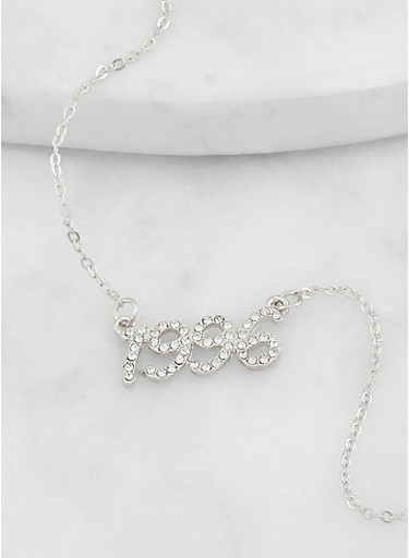 1996 Rhinestone Necklace,SILVER,large