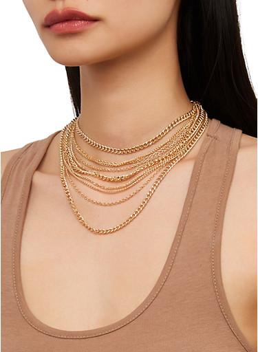 Multi Chain Choker,GOLD,large