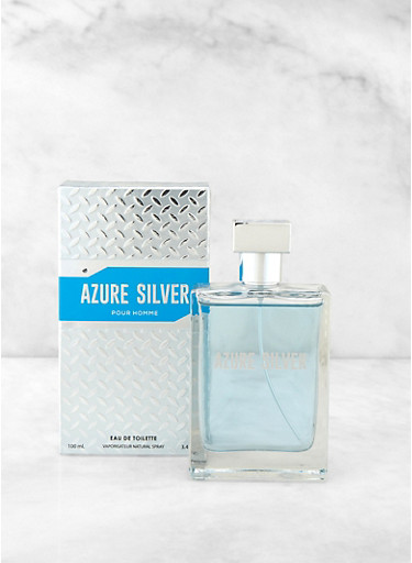 Azure Silver Mens Cologne,CLEAR,large