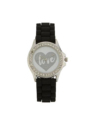 Love Glitter Watch,BLACK,large