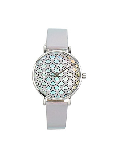 Holographic Mermaid Watch,PURPLE,large