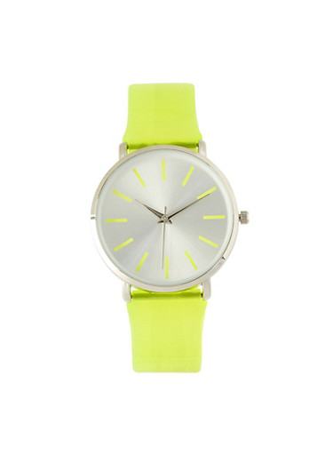 Jelly Strap Watch | Lime,LIME,large