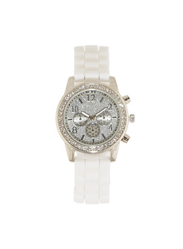 Glitter Face Watch | 1140071430088,SILVER,large
