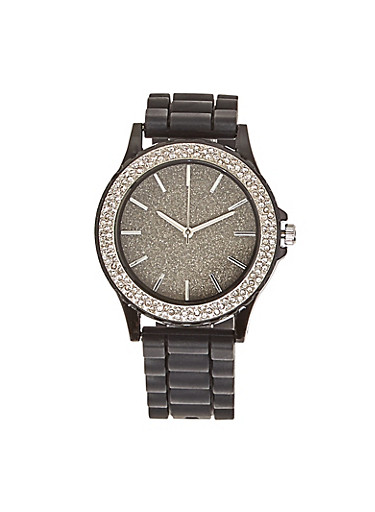 Glitter Dial Watch,BLACK,large