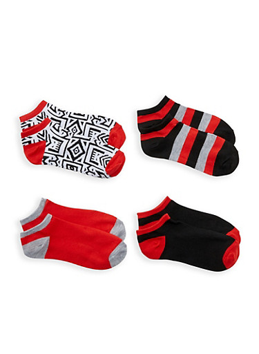 Pack of 4 Assorted Ankle Socks | Tuggl