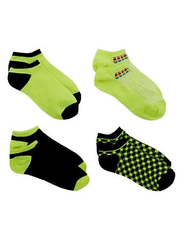 Assorted Ankle Socks,LIME,large