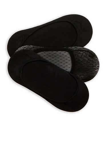 Set of 3 Black No Show Socks | Tuggl