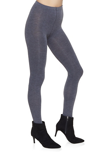 Sweater Knit Footed Tights,CHARCOAL,large