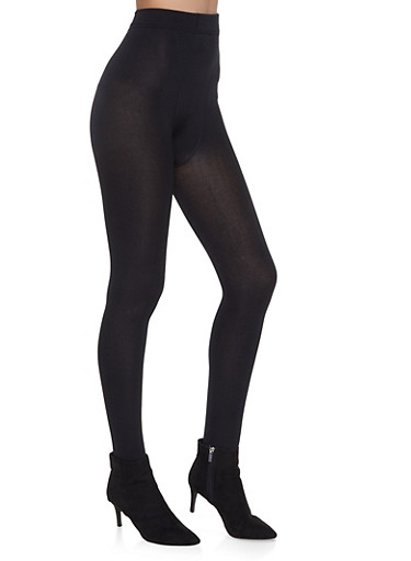Fleece Lined Tights,BLACK,large