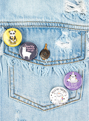 Animal Button Set,MULTI COLOR,large