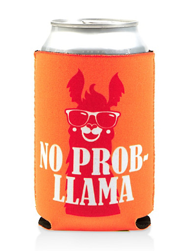 No Prob Llama Drink Sleeve,YELLOW,large