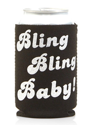 Bling Bling Baby Drink Sleeve,SILVER,large