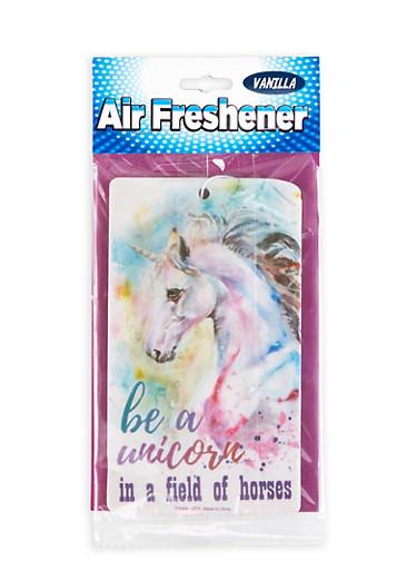 Be A Unicorn Air Freshener   Vanilla,MULTI COLOR,large