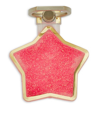 Glitter Star Phone Ring Stand,NEON PINK,large