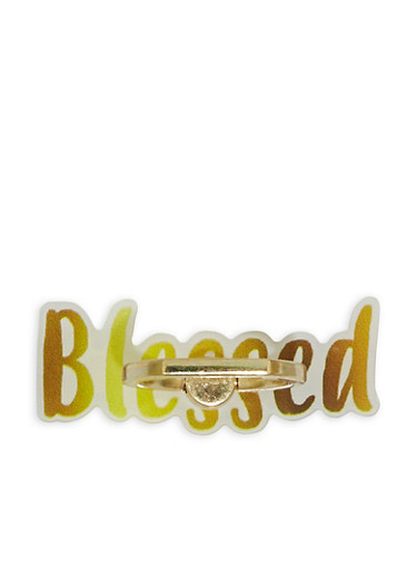 Blessed Phone Ring Stand,GOLD,large