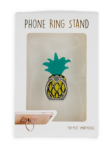 Pineapple Phone Ring Stand,YELLOW,large