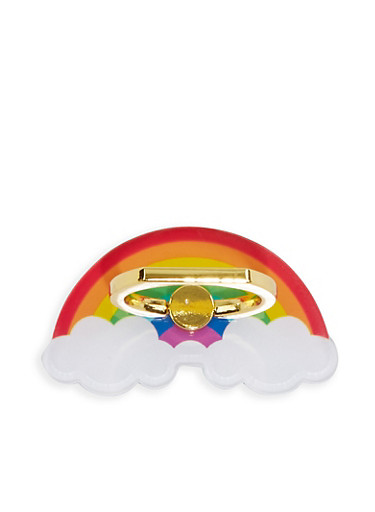 Rainbow Phone Ring Stand,MULTI COLOR,large