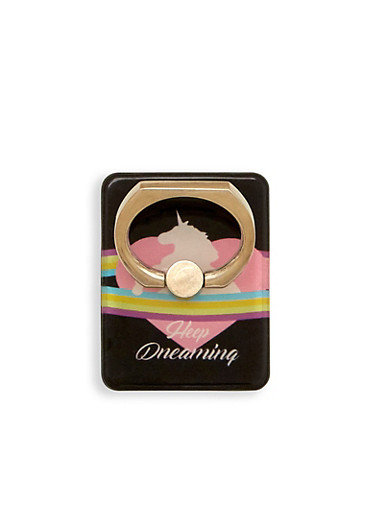 Rainbow Dreaming Phone Ring Stand,BLACK,large