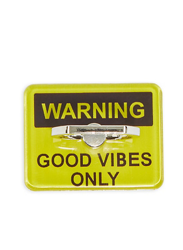 Good Vibes Only Phone Ring Stand,YELLOW,large