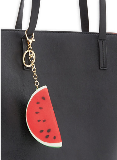 Squishy Keychain,RED/WATERMELLON,large