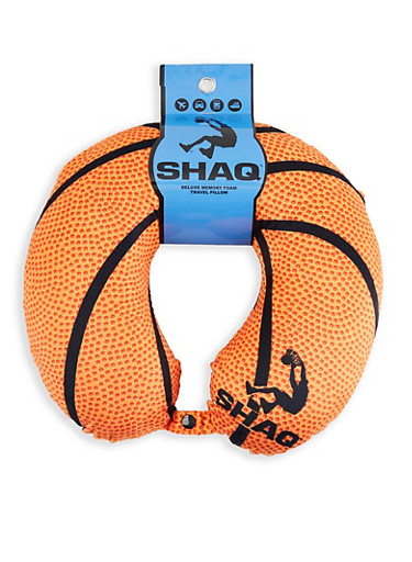 Shaq Basketball Memory Foam Travel Pillow,ORANGE,large